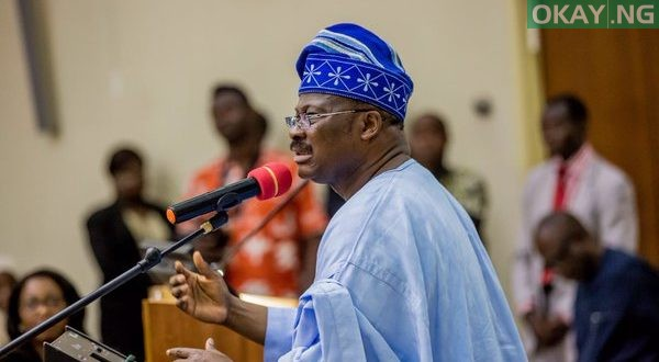 Photo of Ajimobi says, 'i am ready to be probed'
