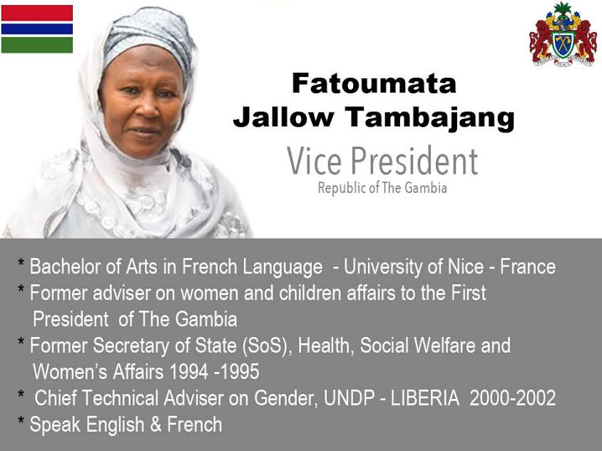 Photo of Gambia: Adama Barrow Names Female Vice President