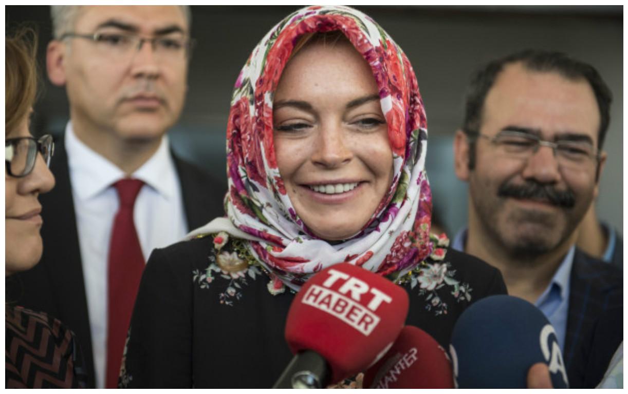 Photo of Popular Hollywood Actress, Lindsay Lohan Converts To Islam