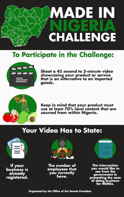 Saraki Launches 'Made In Nigeria' Challenge, Here Is How To Participate