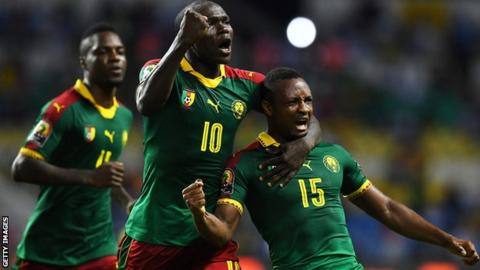 afcon cameroon - AFCON 2017: Cameroon Beat Guinea-Bissau 2-1 to Top Group A