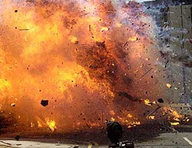 Photo of PHOTO: Bomb Blast Rocks University of Maiduguri Mosque During Morning Prayers