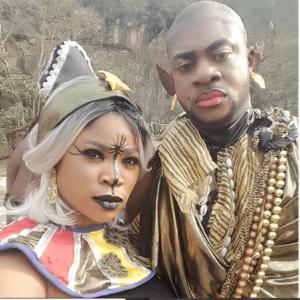 odun1 1 1 300x300 1 - Odunlade Adekola: Actor Transform Into Avatar On Set Of A New Movie (Photo)