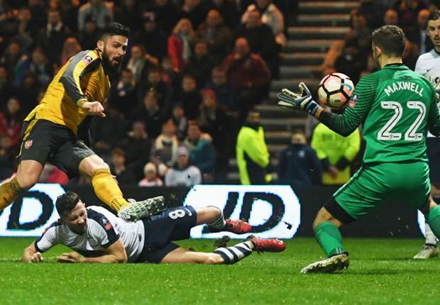preston arsenal fa cup olivier giroud ofpn8gbtn38j1tv20hz5y8pys - VIDEO: Preston North End 1-2 Arsenal (FA CUP) Highlights | WATCH