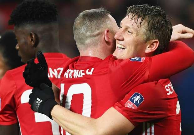 wayne rooney bastian schweinsteiger manchester united wigan 1lzgljpgjqz70189ed8xxiz0fy - VIDEO: Manchester United 4-0 Wigan Athletic (FA CUP) Highlight | WATCH