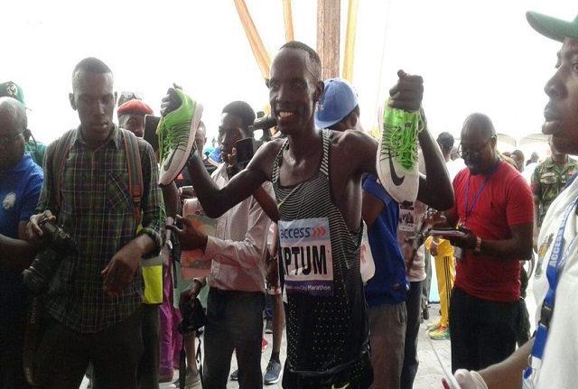 Abraham Kiptum Wins Access Bank Lagos City Marathon For The Second Year In A Row OkayNG - PHOTOS: Kenya's Abraham Kiptum Wins Access Bank Lagos City Marathon