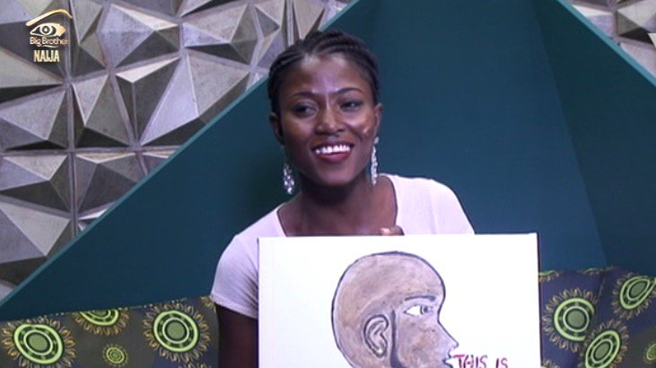 C5wwIdqWcAAlJV0 8 - #BBNaija:Housemate Tasked To Draw Portrait Of Big Brother – (See Photos)