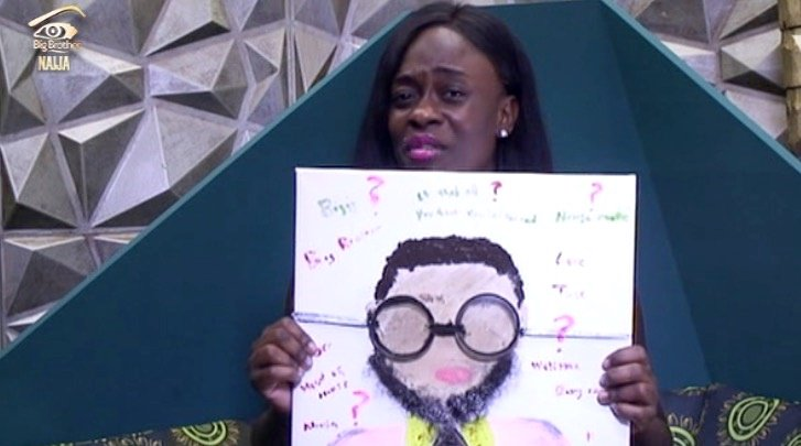 C5xCS5fWAAUCdFp - #BBNaija:Housemate Tasked To Draw Portrait Of Big Brother – (See Photos)