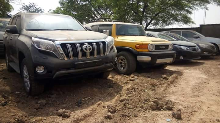 Photo of PHOTOS: See 17 Exotic Vehicles EFCC Recovered From Ex-Customs Boss, Dikko Inde In Kaduna