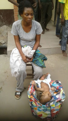 Woman Dumps Child OkayNG - PHOTO: 18-year-old Mother Arrested After Dumping Her 4-month-old Baby Under Oshodi Bridge In Lagos