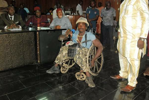 chijioke - Crippled Man Who Was Assaulted By Soldiers In Onitsha Gets N500,000 From Ebonyi State Governor