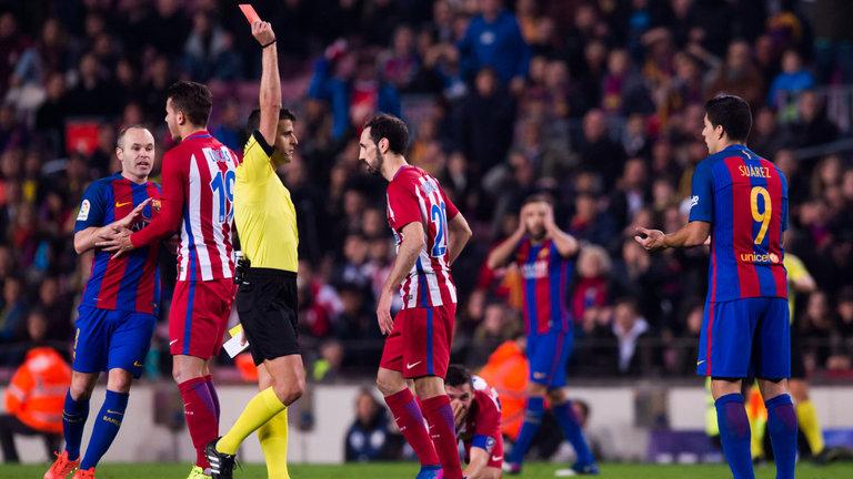 luis suarez barcelona red card copa 1 - Barcelona: Suarez to Miss Copa del Rey Final