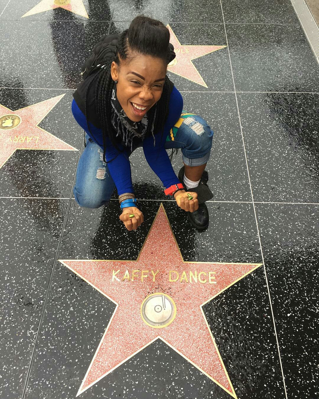 Photo of Dancer Kaffy's Name Hits Hollywood Walk Of Fame | SEE PHOTOS