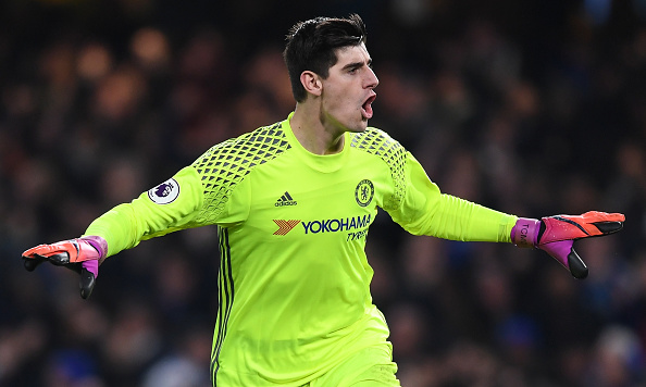 thibaut courtois of chelsea OkayNG 1 - Fabregas Says If Real Madrid Move For Courtois He Won't Be Shocked