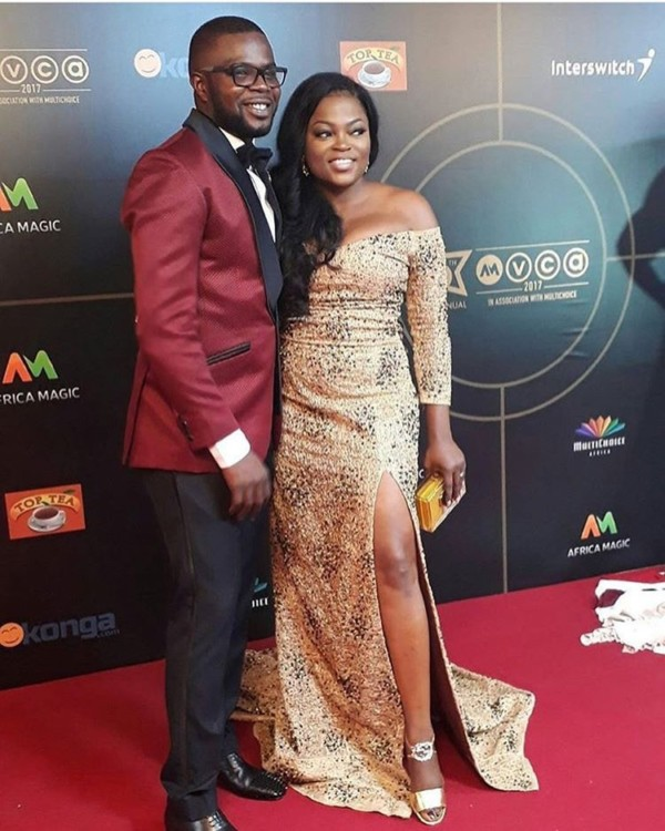 Funke Akindele Bello and JJC OkayNG - #AMVCA2017: See Photos of Celebrities On the Red Carpet