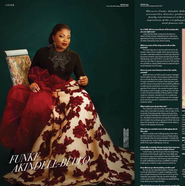 Funke ThisDay 03 side - Photos: Funke Akindele Dazzles On The Covers Of ThisDay Style Magazine