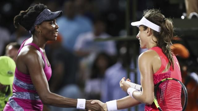 Miami Open Konta breaks Venus Williams - Johanna Konta Defeats Venus Williams to Reach Miami Open Final
