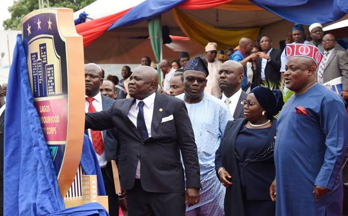 Neighbourhood1 - PHOTOS: Governor Ambode Inaugurates Neighbourhood Safety Corps In Lagos State