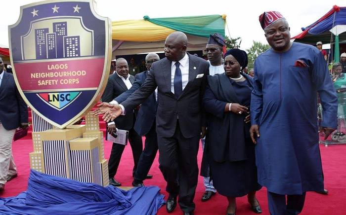 Neighbourhood2 - PHOTOS: Governor Ambode Inaugurates Neighbourhood Safety Corps In Lagos State