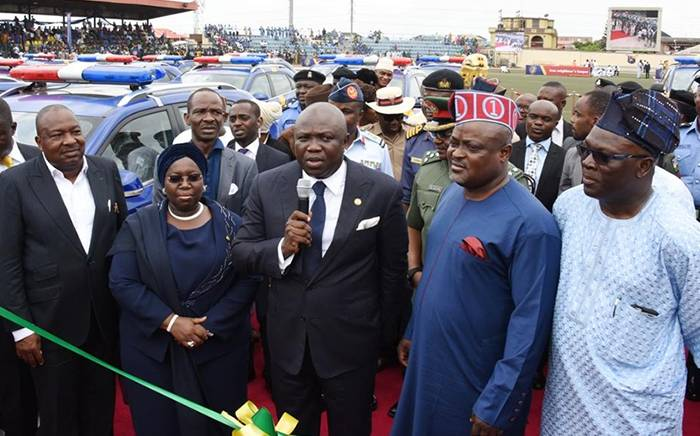 Neighbourhood3 - PHOTOS: Governor Ambode Inaugurates Neighbourhood Safety Corps In Lagos State