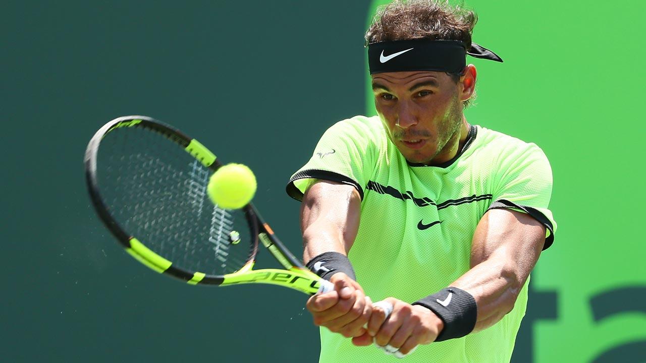 Rafael Nadal - Rafael Nadal Progresses to Miami Final After Win Over Fabio Fognini