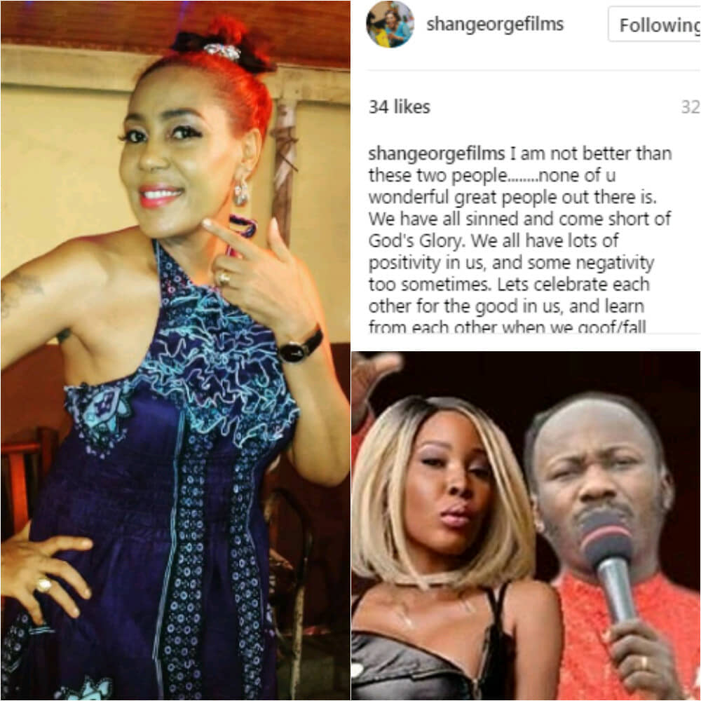 Shan George - Nollywood Actress, Shan George Shares Her Opinion On Apostle Suleman's Alleged Sex Scandal