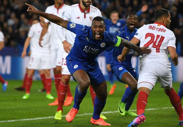 leicester sevilla wes morgan 66u4h1dg48uc10wcucd4egd5s - VIDEO: Leicester City 2-0 Sevilla (3-2 agg) (UEFA Champions League) (14-3-17) Highlight