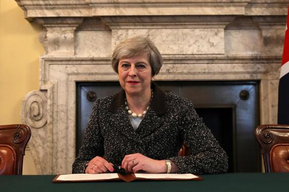 theresa may brexit signing letter - British Prime Minister Signs Brexit Letter to Begin Departure Process From EU