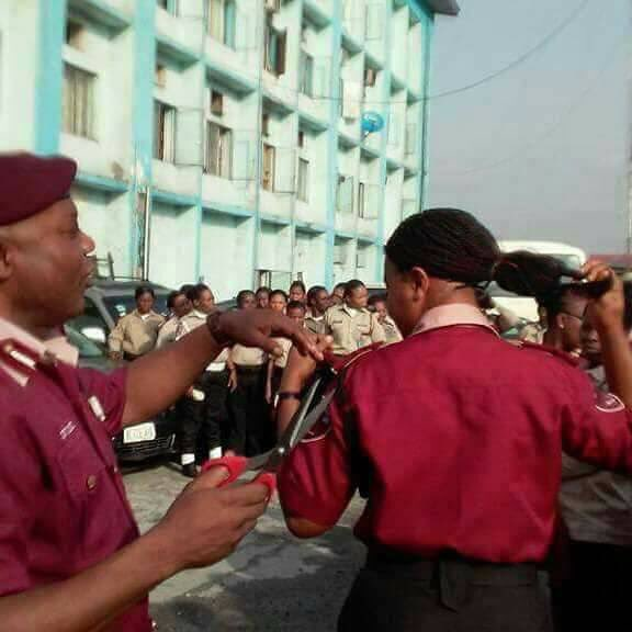FRSC Recalls Commander For Cutting Female Officers' Hair