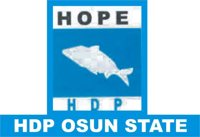 Hope Democratic Party - Osun HDP Lauds State INEC on Continuous Voters Registration, Urges Citizens to Troop Out