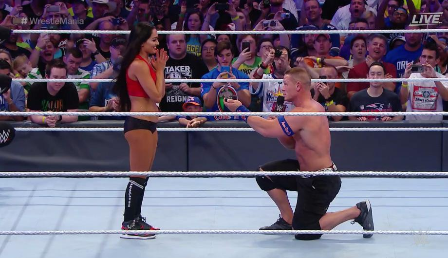 John Cena Proposes - John Cena Proposes to His Long-Time Girlfriend, Nikki Bella