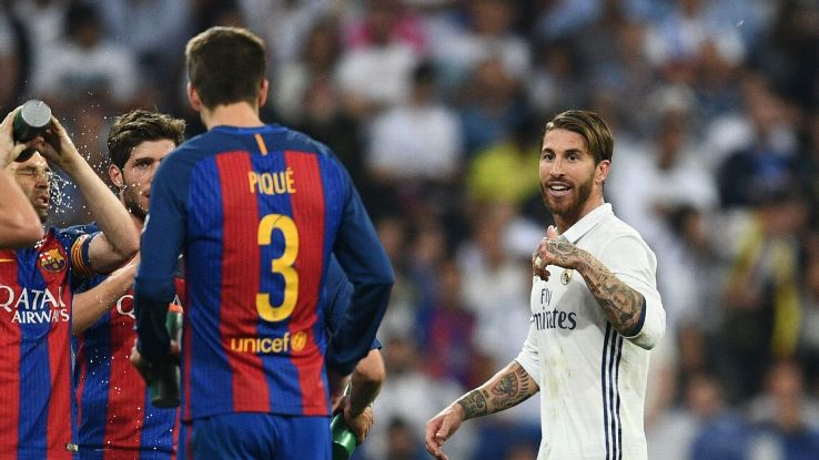 Photo of Sergio Ramos Deserved El-Clasico Red Card – Says Pique
