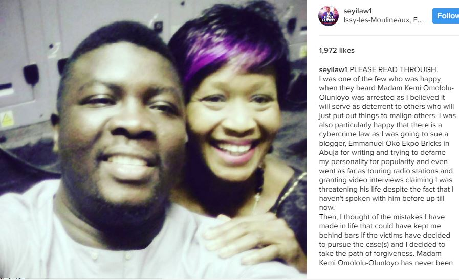 Seyi Law - I Was Happy When I Heard Kemi Olunloyo Was Arrested - Seyi Law