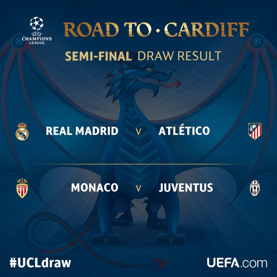 Real Madrid Vs Atletico Madrid Uefa Champions League Semi ...