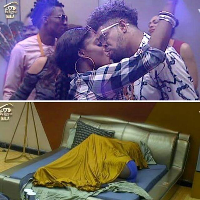 bisola and ttt at the house party - #BBNaija: I Never Gave ThinTallTony A Blow-job, Nothing Happened Under the Covers - Bisola