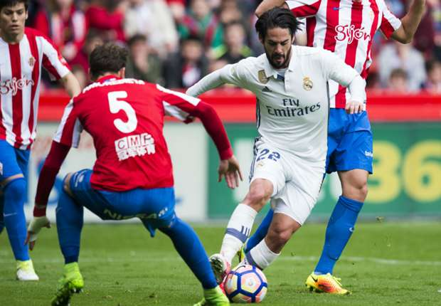 isco cropped wwabmbr2jlw61587jtk4bldyy - VIDEO: Sporting Gijon 2-3 Real Madrid (La Liga) Highlight