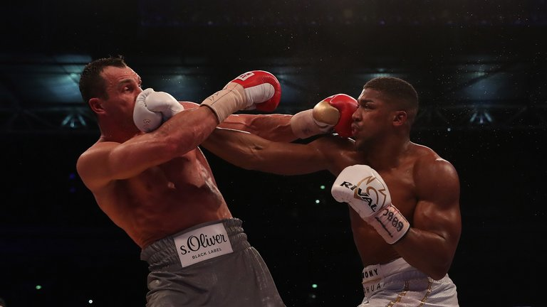 joshua klitschko wembley - Anthony Joshua Knocks Out Wladimir Klitschko