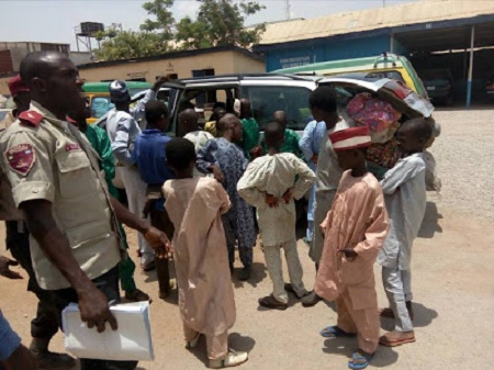 FRSC Rescues 17 Children From Suspected Human Traffickers in Kaduna
