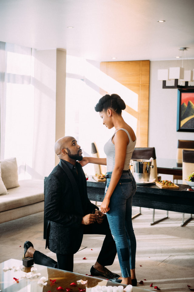 FINALLY!!! Banky W Engages Adesua Etomi, Set to Get Married Soon
