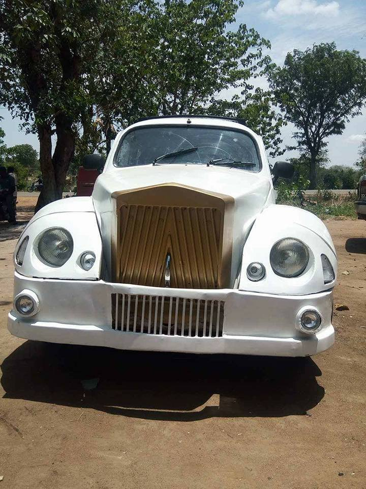 Photo of Nigerian Man Transforms A Volkswagen Beetle Car Into A Rolls Royce – PHOTOs