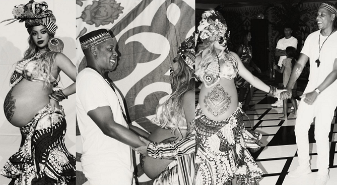 See These Photos From Beyonce & Jay Z's African Themed Baby Shower