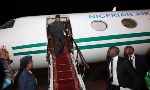 Osinbajo Plane - Osinbajo in New York on four-day visit