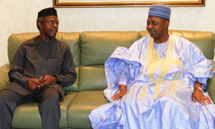 PIC 4 650x400 1 - Acting President Osinbajo Receives Ex-VP Namadi Sambo at Aso Rock