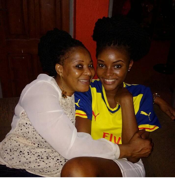 Moji Olaiya and her Daughter
