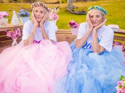Photo of Photos: 100-year-old Brazilian Twin Sisters Celebrate Birthday With Lovely Photoshoot