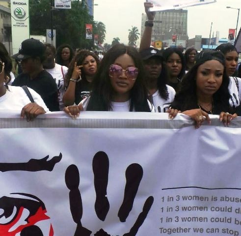 Photo of Olori Wuraola Campaign Against Domestic Violence, Mercy Aigbe, Tonto Dikeh, Others Join