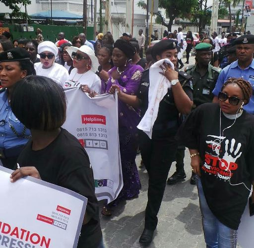 3 25 4 - Olori Wuraola Campaign Against Domestic Violence, Mercy Aigbe, Tonto Dikeh, Others Join