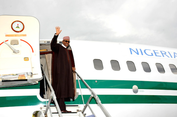 Buhari plane - OFFICIAL: President Buhari Returns to Nigeria Today, to Address Nigerians On Monday