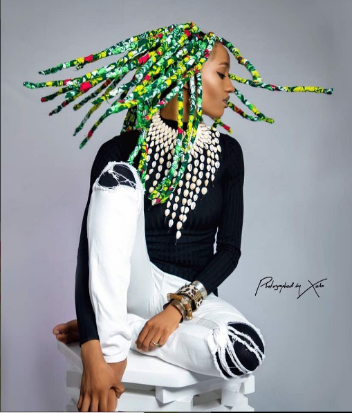 Photo of Di'Ja's Ankara Braids Is Probably The Best Thing You'll See Today Online