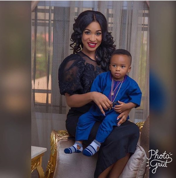 Photo of Aww! Tonto Dikeh And Son Strike A Pose As Andre Marks 14 Months Anniversary